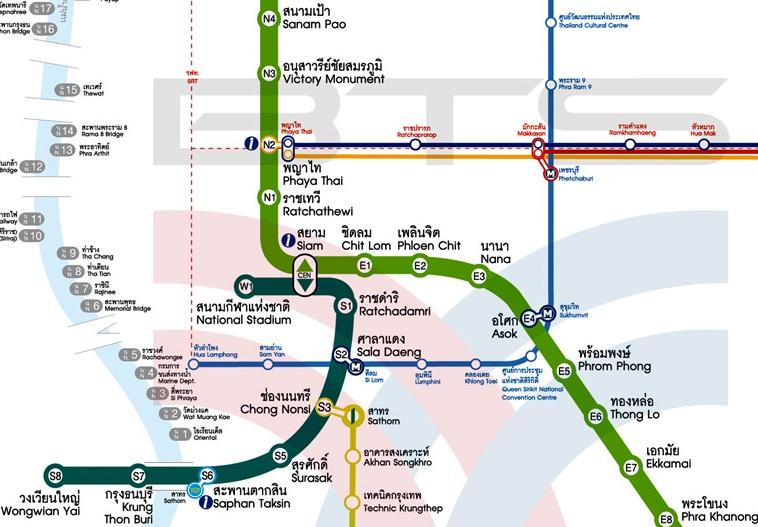 bangkok bts mrt map pdf