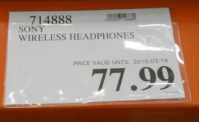 Deal for the Sony MDR-RF985RK Wireless Headphones at Costco