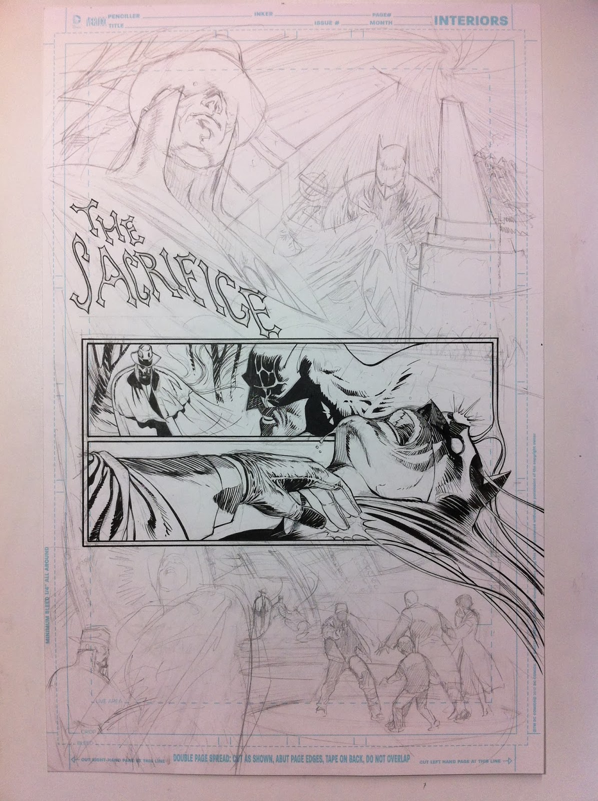 Making of a page: DETECTIVE COMICS #27 by Guillem March