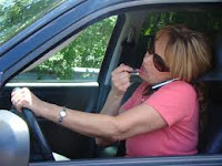 having make up while driving