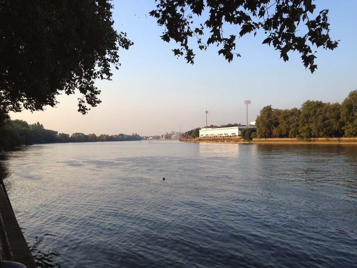 River Thames and Craven Cottage, Putney, London SW15