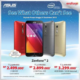 Promo Akhir Tahun Asus Zenfone 2 di Erafone