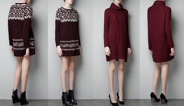 vestidos zara - moda invierno 2013
