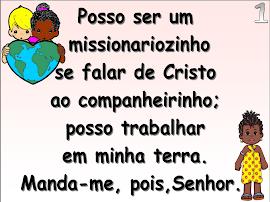Slides com SOM Posso ser um missionariozinho.