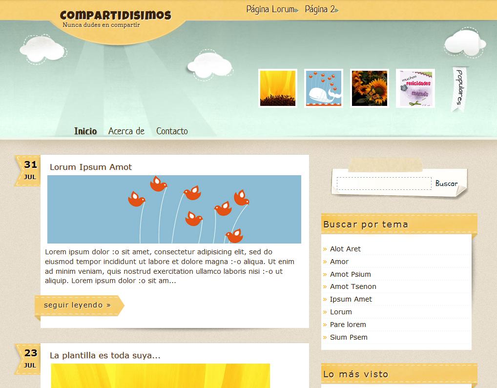 Compartidisimos Blogger Template | Free Blogger Themes