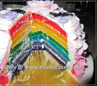 Picture of Penang Cakes - Evadis Cupcakes - Rainbow Cake After Cut Another View