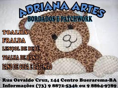 """Adriana Artes """"Bordados e Patchwork"""""""