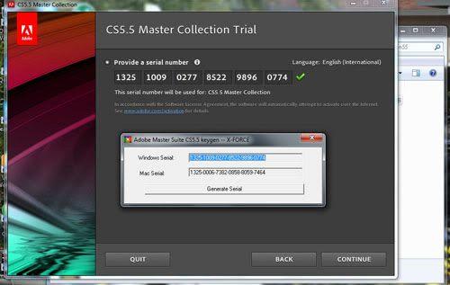 adobe flash player cs5.5 serial number