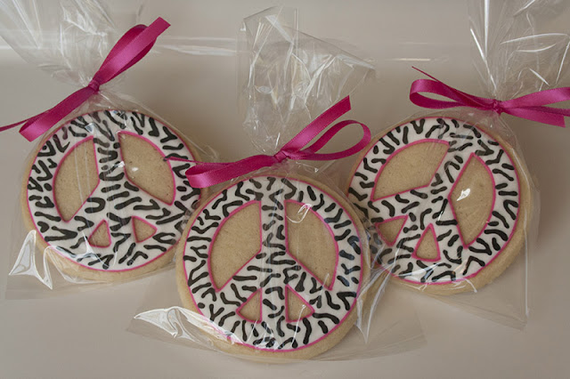 Zebra print birthday party favors