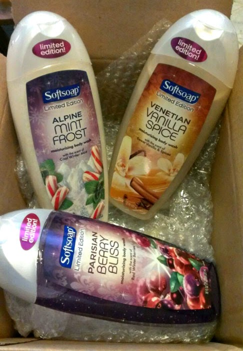 softsoap Limited Edition holiday Body Washes giveaway set