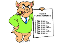 Animal Farm, Pigs, commandments, toy pig