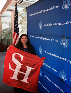 Intern Stephany Cornejo served at the U.S. Mission to International Organization in Vienna.