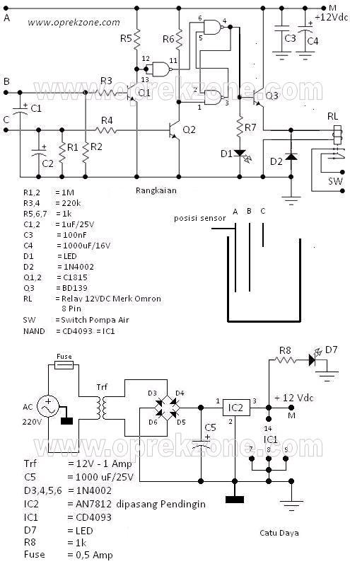 BLOGSERBA Membuat Sensor Pompa Air Bak Mandi Toren