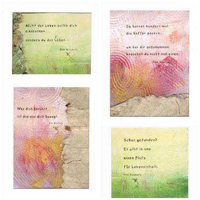 Ausgesuchter Spruch auf Baumwolle Leinen abgebildet