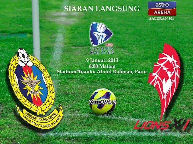 Keputusan ATM vs Singapore LIONSXII 9 Januari 2013 - Liga Super 2013
