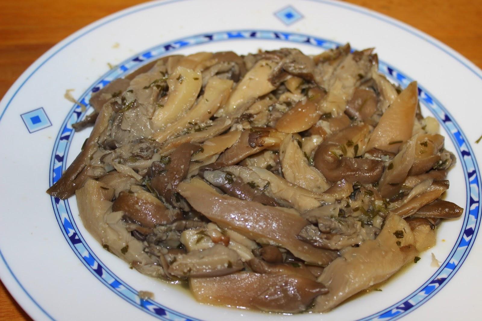 La cocina de gibello setas girgola al ajillo - Setas cultivadas al ajillo ...