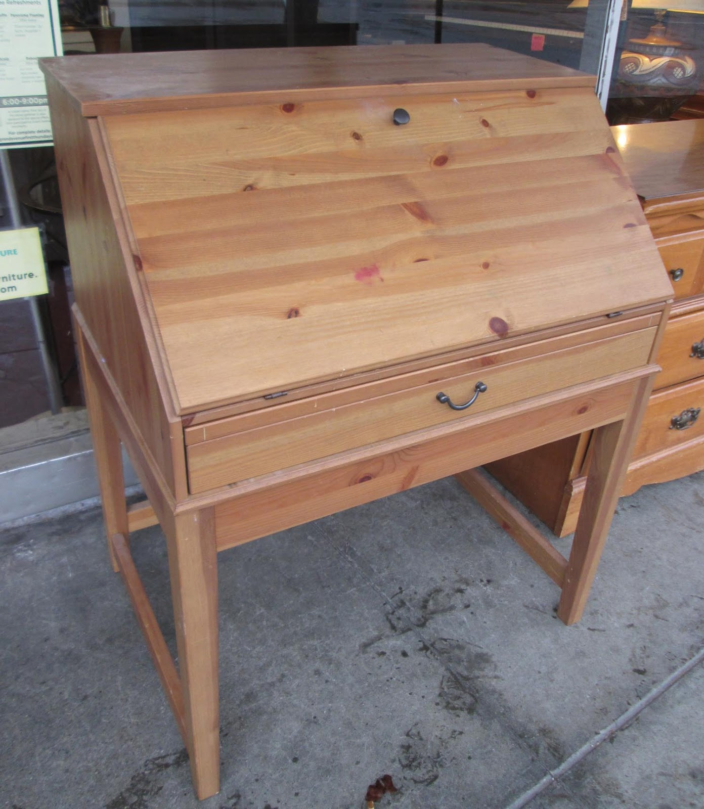 Uhuru Furniture Collectibles Sold Small Secretary Desk