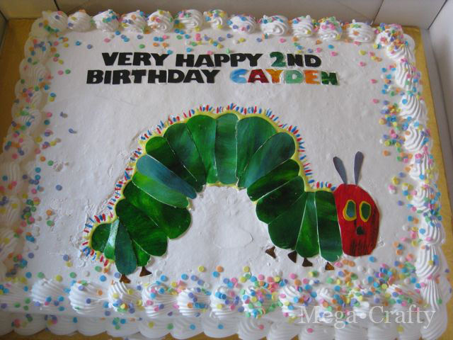 Megacrafty Very Hungry Caterpillar Cake Using A Grocery Store Cake