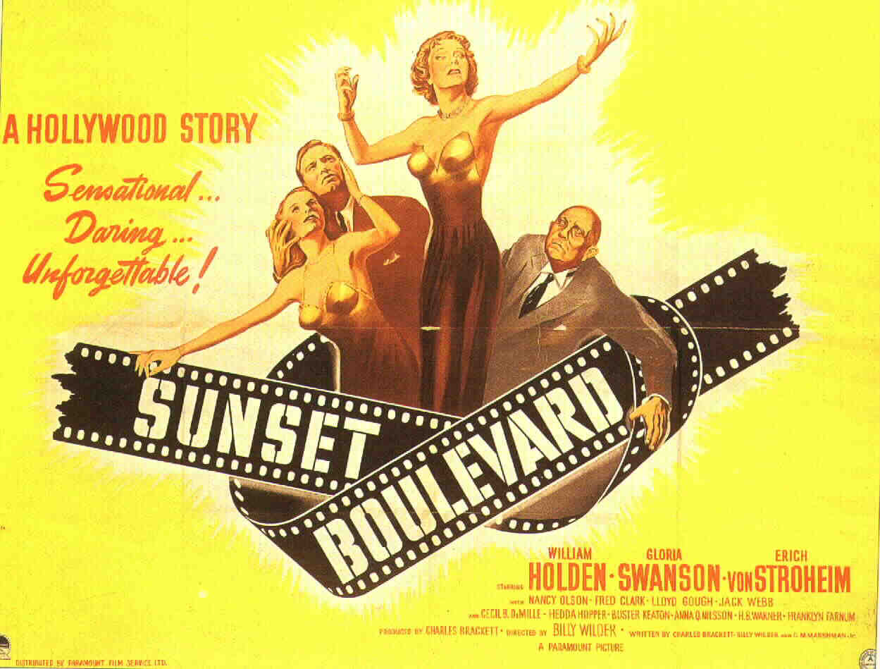 sunset boulevard by billy wilder a Billy wilder, writer: the apartment originally planning to become a lawyer, billy wilder abandoned that career in favor of working as a reporter for a viennese newspaper, using this.
