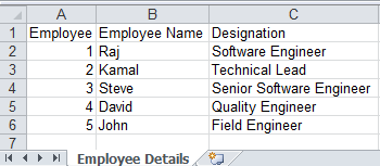 Creating excel sheet in Java