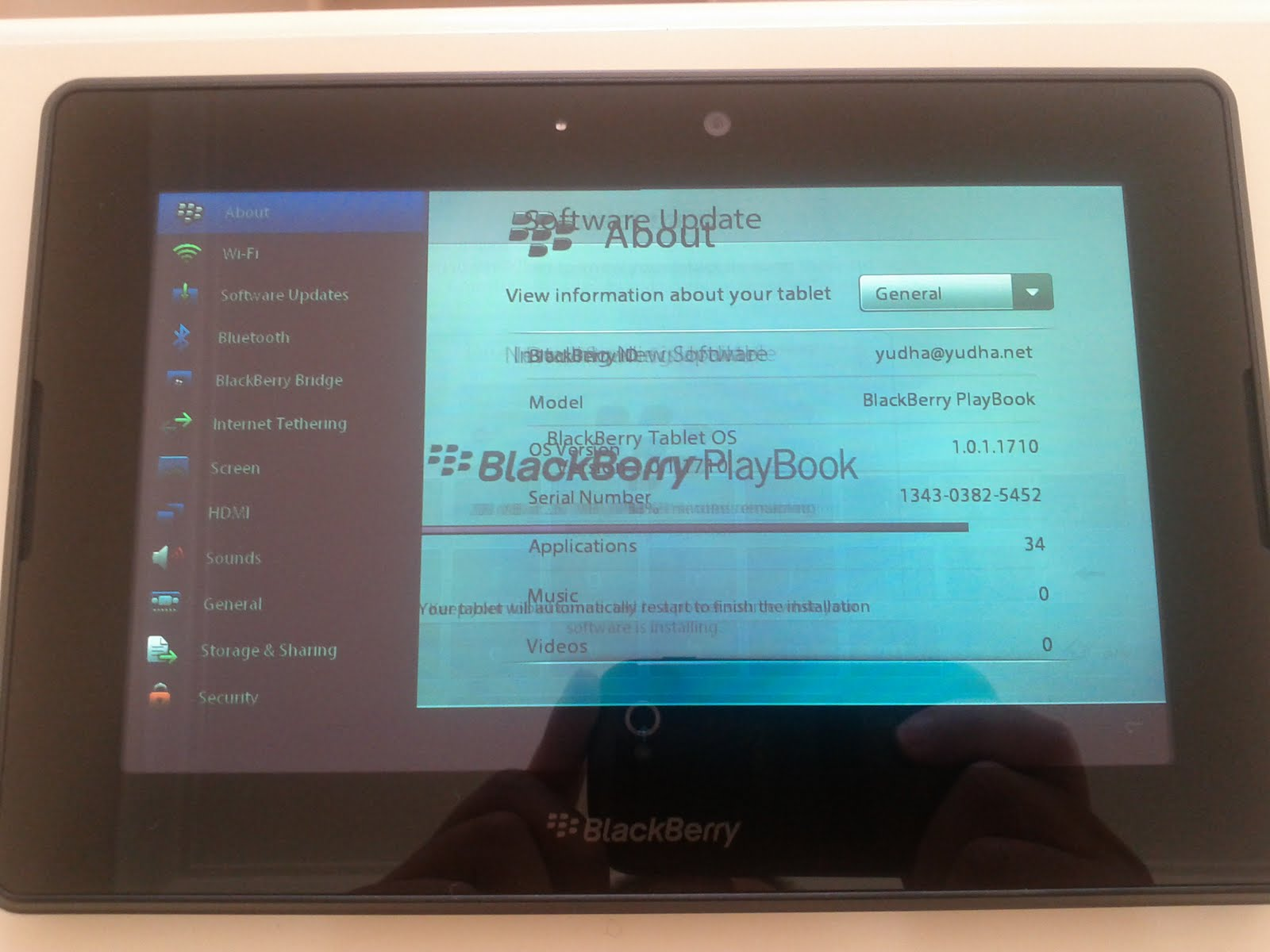 Yudha's Blog: Blackberry Playbook Bugs