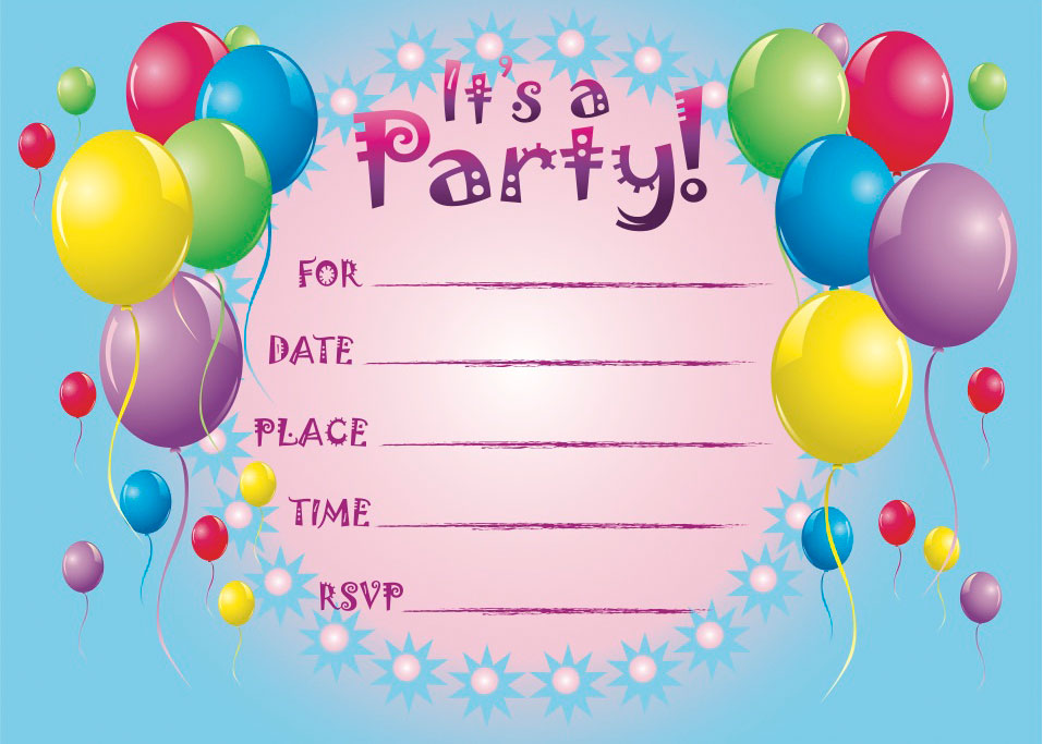 Kids birthday invitation card template zrom filmwisefo