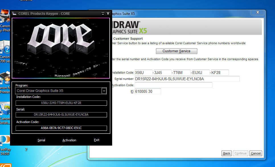 crack untuk corel draw x5