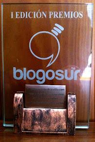 """1º Edición Premios Blogosur. Premio al Mejor Blog de Sevilla, categoría """"Blog Personal"""", 2010"""