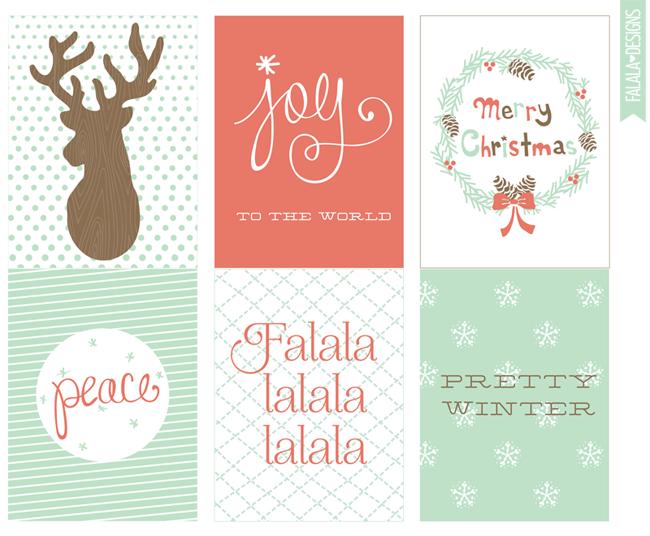 falala designs: Christmas/Winter 4x3 printables