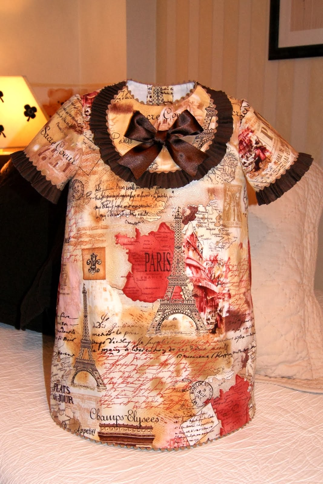 Vestido Avril à Paris manga corta