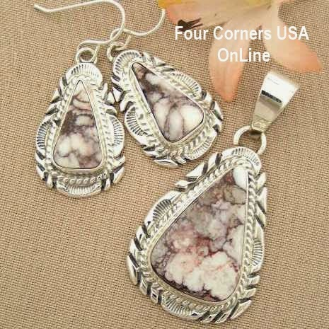 Wild Horse Native American Indian Jewelry Set Four Corners USA OnLine