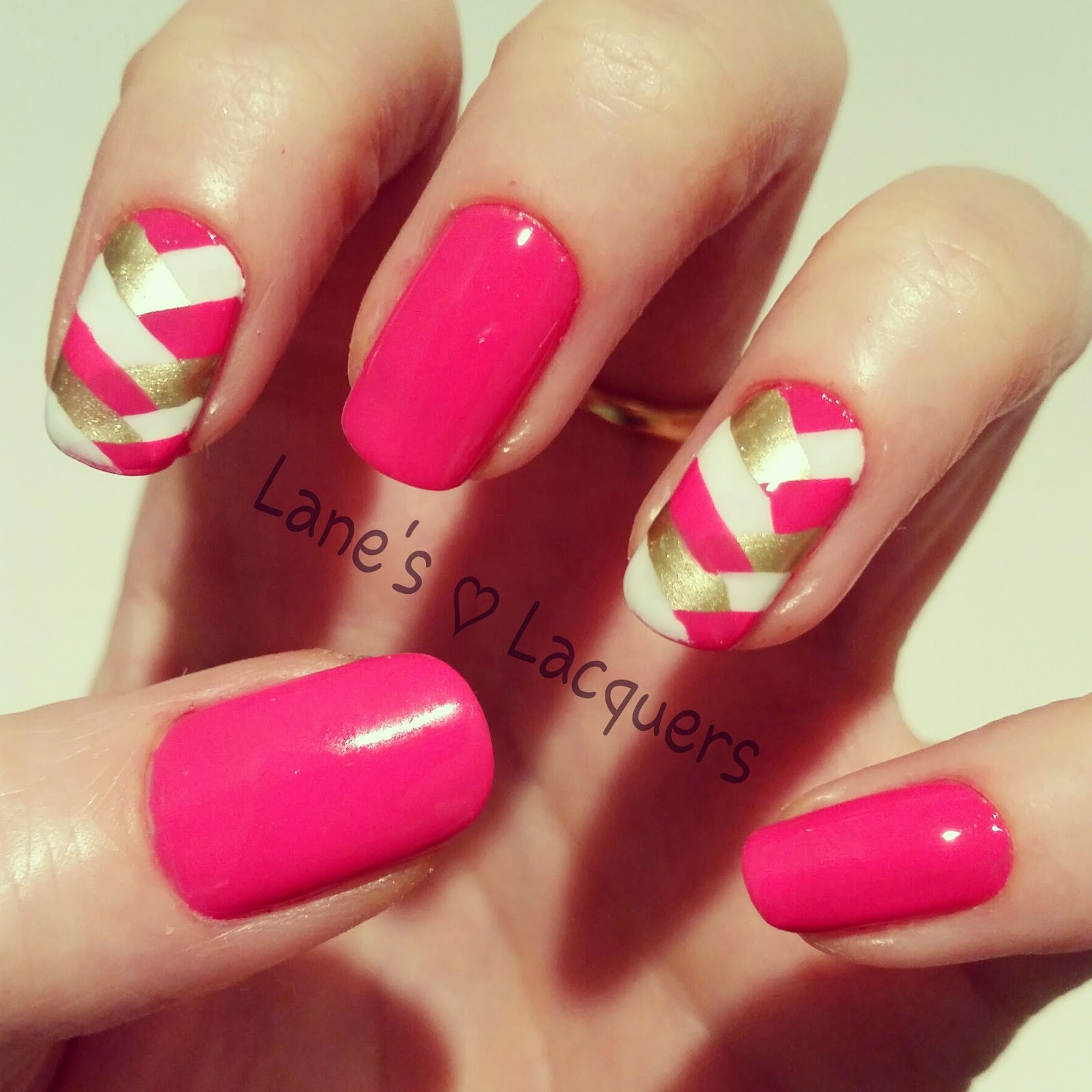 barry-m-pink-white-gold-fishtail-braid-nail-art