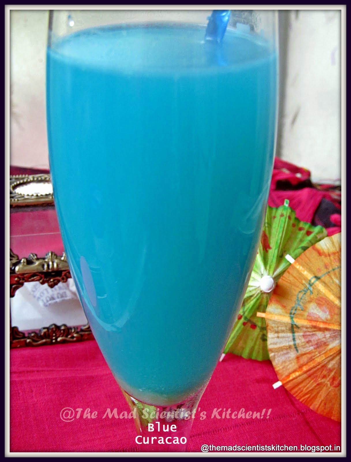Blue Curacao and Eggless Lemon Curd
