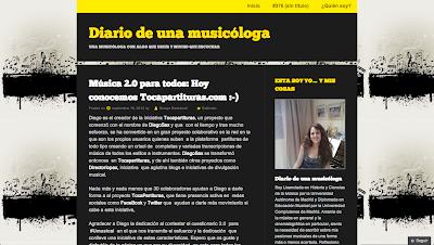 tocapartituras sale publicado en Diario de una Musicóloga. Entrevista a Nuestro Proyecto Colaborativo tocapartituras.com