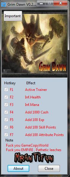 Grim Dawn V0.2.3.4 B17 Trainer +6 MrAntiFun