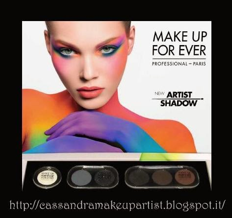 make up for ever - mufe - ombretti - eyeshadow artist shadow - dany sanz - la truccheria bologna - palette - refill