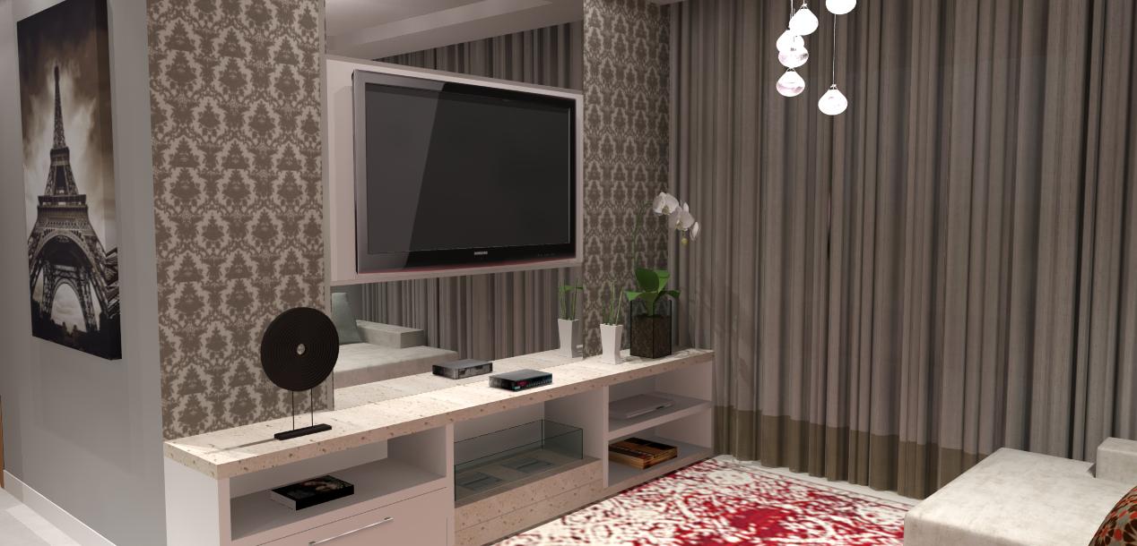 Sala De Tv Projetada ~ balcão sob medida de ilha para cozinha e sala integradas