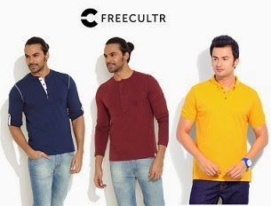 Flat 50% Off on Freecultr Men's Clothing start from Rs.231 Only @ Flipkart (Limited Period Offer)