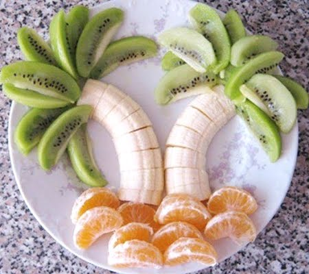 Fruit Arranged As Palm Trees