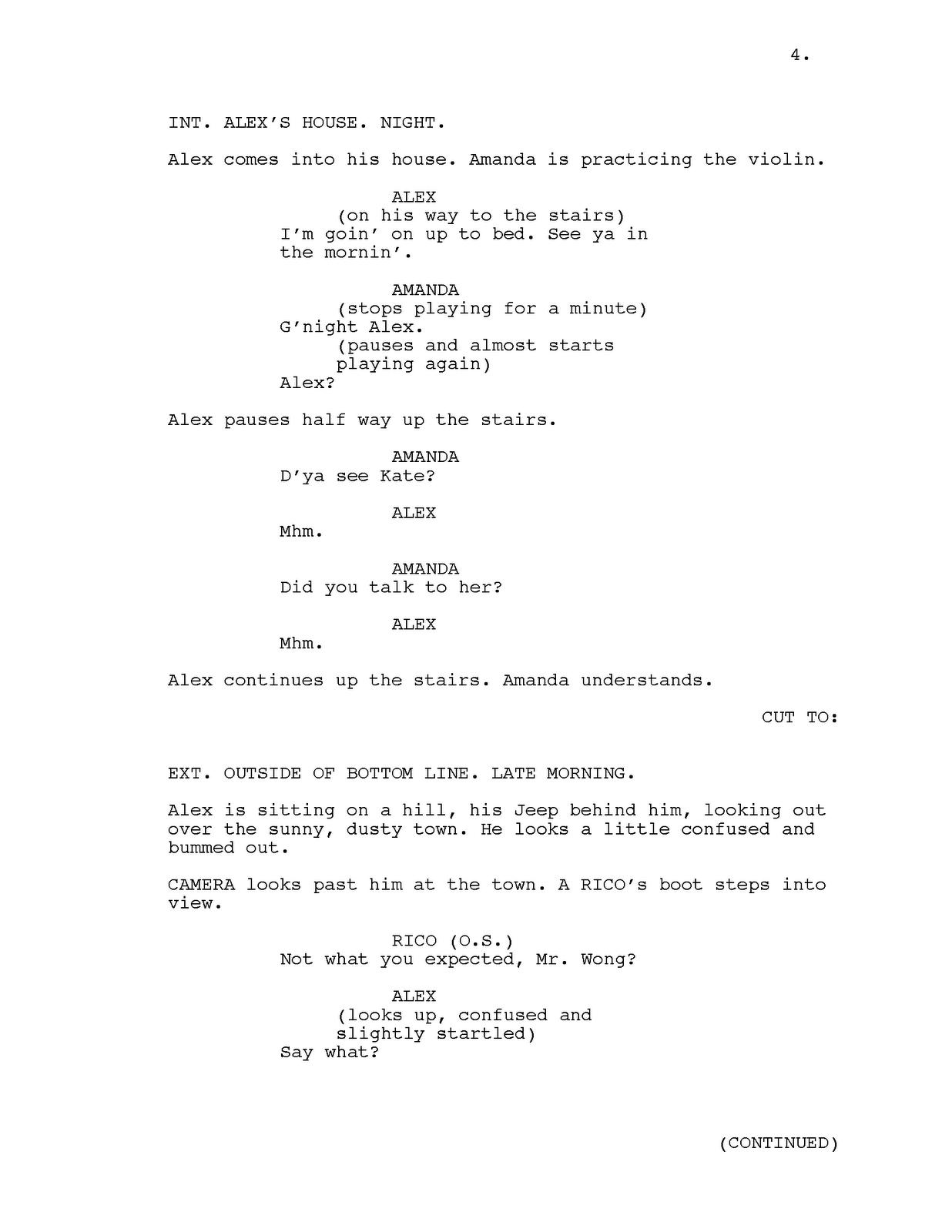 tv script format example pdf