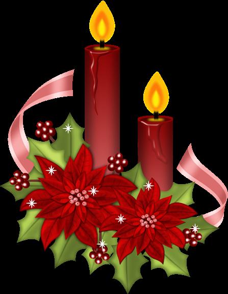 im genes y gifs de navidad velas de navidad con flores. Black Bedroom Furniture Sets. Home Design Ideas