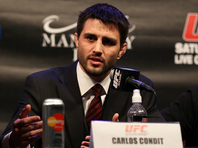 ufc mma welterweight fighter carlos condit press conference picture image