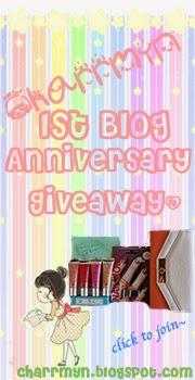 Charrmyn 1st Blog Anniversary Giveaway