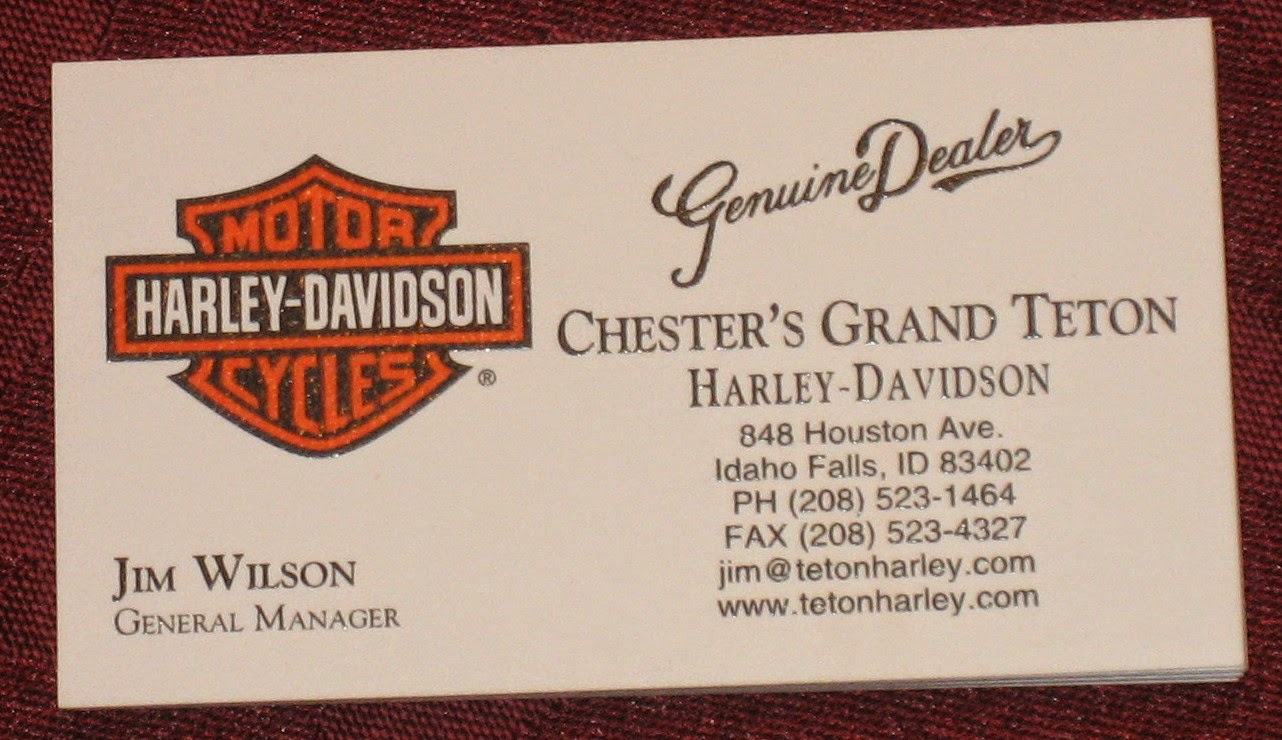 My harley cards 2014 i have not had the opportunity to ride in idaho falls but i look forward to stopping in when i do thanks for adding to the collection colourmoves