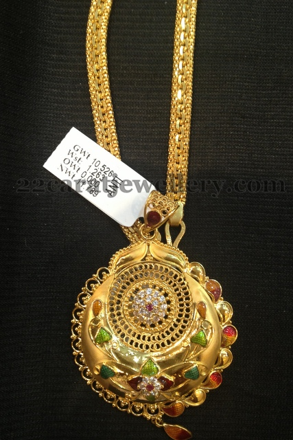 lockets yellow plain necklace locket round gold
