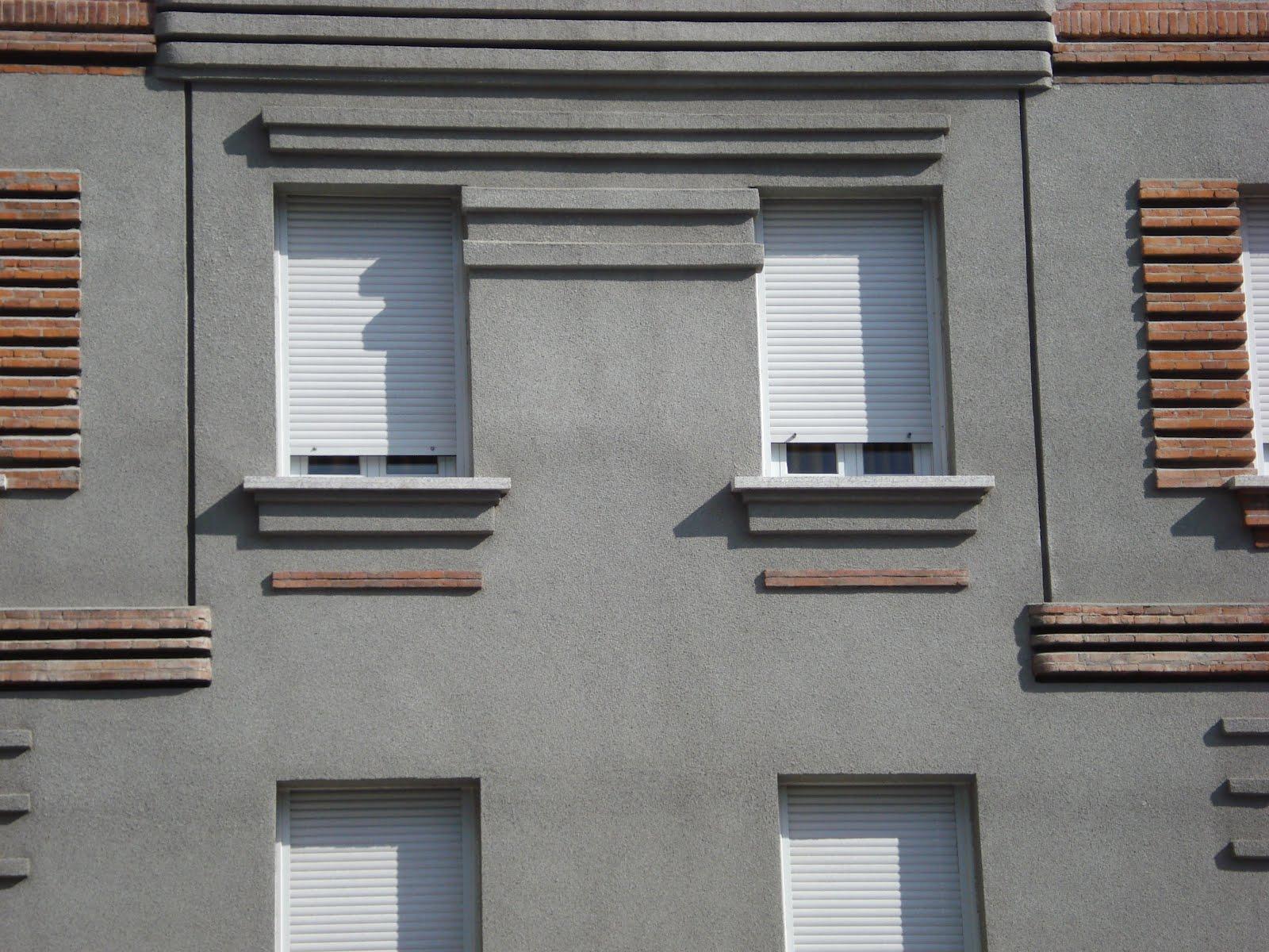Madrid Art Dec Estr As Y L Neas Horizontales En Fachada