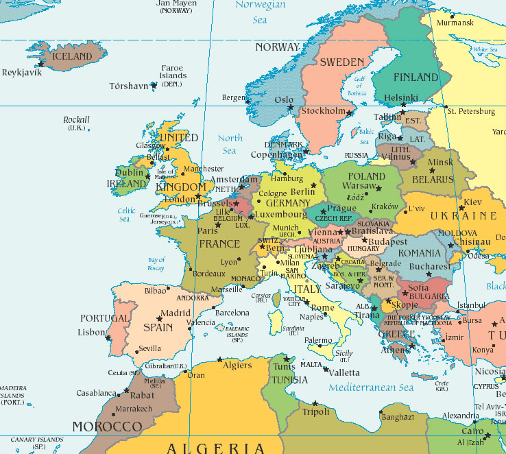 Maps of Europe Countries Northern Europe Region Maps Details Pictures