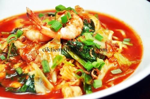 Resepi masakan Mee Bandung yang sedap.