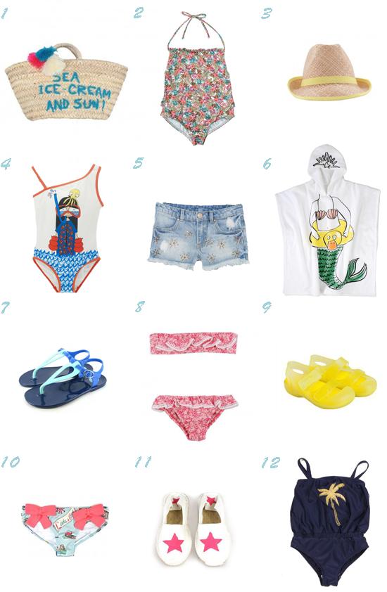 Equipada para la playa niña verano 2014 Pequeña Fashionista