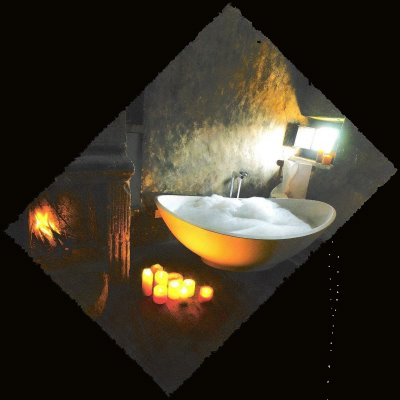 Casa Antica contemporary bathtub in ancient architecture edited by lb for linenandlavender.net